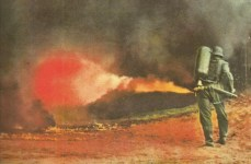German flamethrower in action