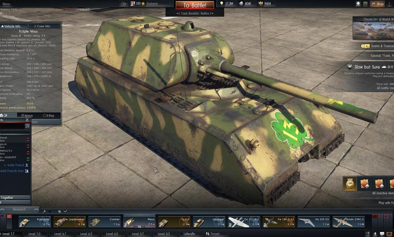 Most effective vehicles in War Thunder > WW2 Weapons