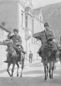 Russian cavalry entering Trebizond