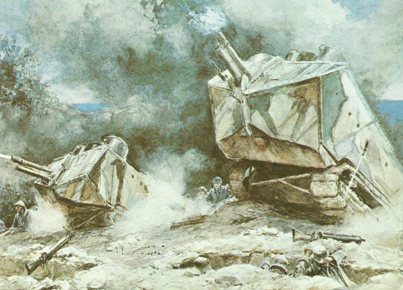 St Chamond assault tanks
