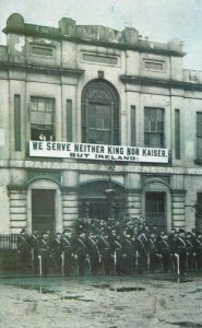Citizen Army parades outside Liberty Hall Dublin