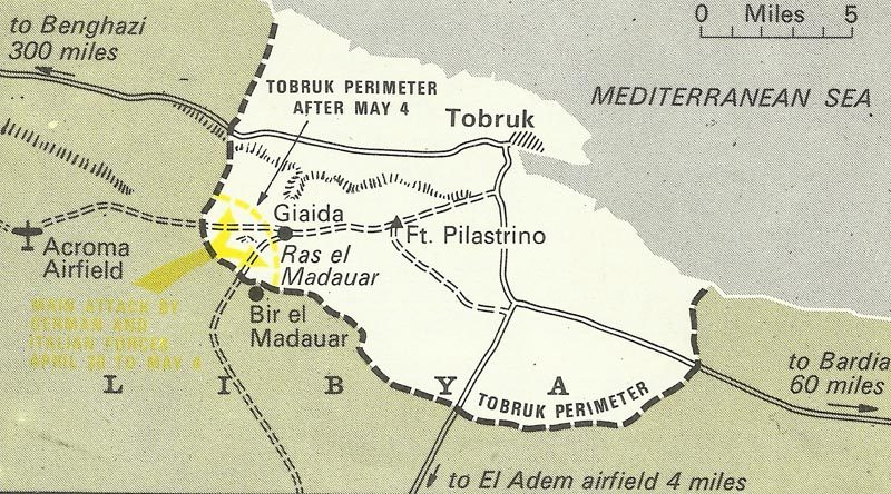 Map of the Siege of Tobruk