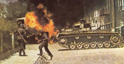 Panzer 3 in street fightings.