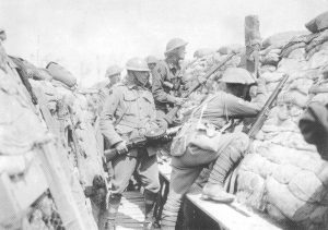 Riflemen and a Lewis gunner of the 2nd Australian Division