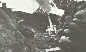 Austro-Hungarian trench mortar opens fire on the Italians
