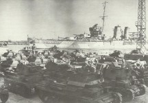 British armour shipped to the Middle East