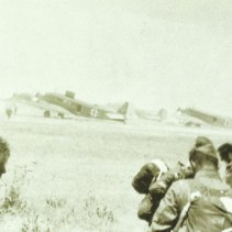 Dust and high temperatures at the airfield Topolia