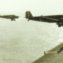 Ju 52s of the first wave