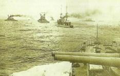 Destroyers of German High Seas Fleet in the North Sea.