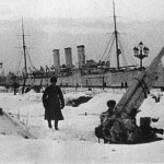 Cruiser Aurora during the Siege of Leningrad
