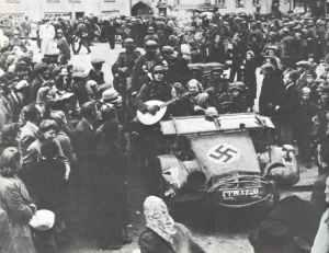 German troops are welcomed as liberators