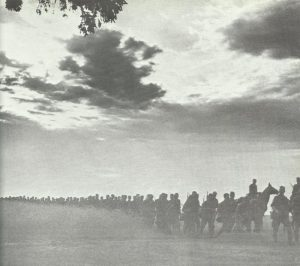 Advance of German troops