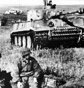 Tiger of SS division Reich at Kursk