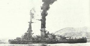 Italian battleship 'Leonardo da Vinci'