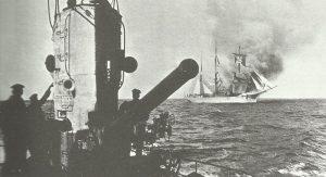 German U-boat sinks Italian sailing ship