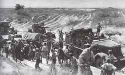 advance of German columns around Kiev on the bad roads