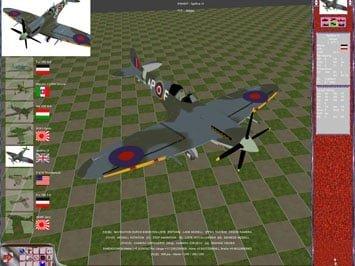 3d model of a Spitfire