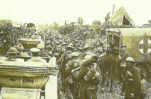 march on a street with ankle-deep mud