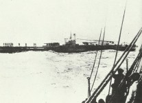 submarine detains a merchant vessel