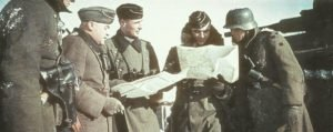 Panzer and infantry officers at Klin
