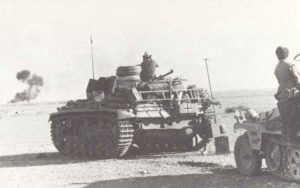 German tanks near Tobruk during Operation Crusader