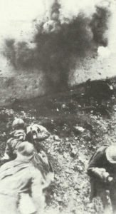 French troops under fire at Verdun