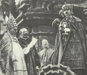 Emperor Charles at the Coronation as Hungarian King
