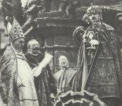 Emperor Charles at the Coronation as Hungarian King