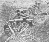 Romanian infantry in their trenches.