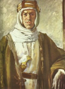 T.E. Lawrence in Arab dress