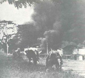 Assault of Japanese soldiers on Kuala Lumpur.
