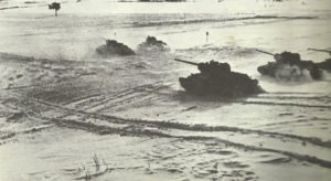 Attacking Russian T-34 tanks