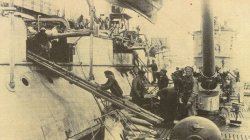 U-boat takes ammunition on board