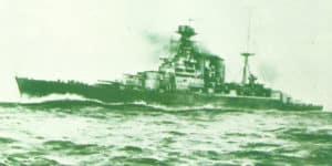 battlecruiser 'HMS Hood' in 1920