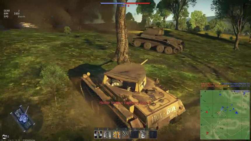 Panzer II H in the typical battle