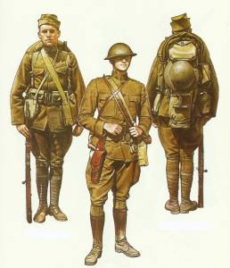 US infantry in World War One