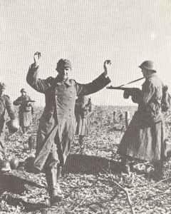 Capturing of German soldiers