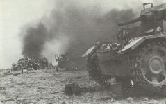 Destroyed German vehicles in North Africa