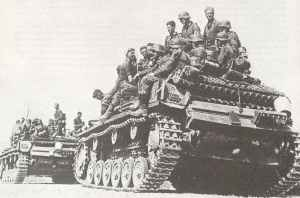Geramn infantry on Panzers