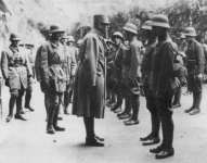 inspection of Austrian troops in the Alpine region
