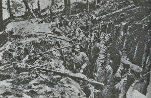 Russian troops in trenches