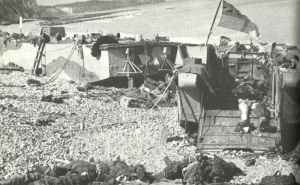 beach of Dieppe after the raid