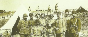 Turkish officers on the eastern front.