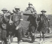 Wounded German carried at Ypres