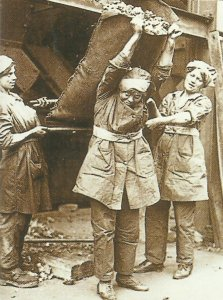 Women as workers in a coal mine