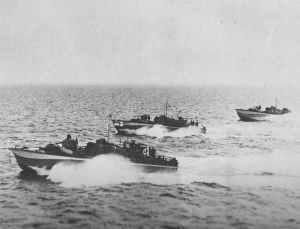 British MGBs (motor gun boats).