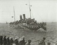 Ships of an Allied convoy arrive