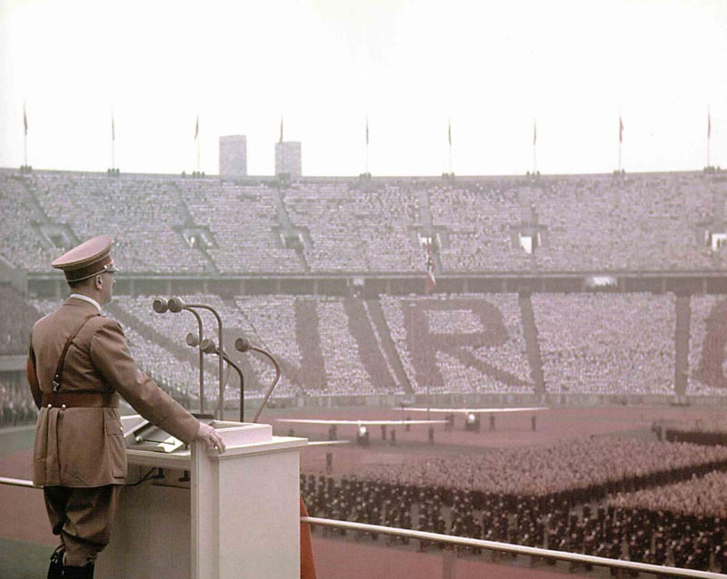Hitler in the Olympic Stadium