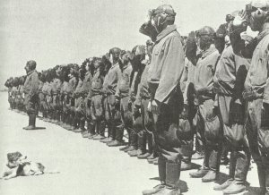 Japanese bomber crews in northern China