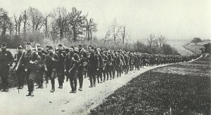 March of American soldiers